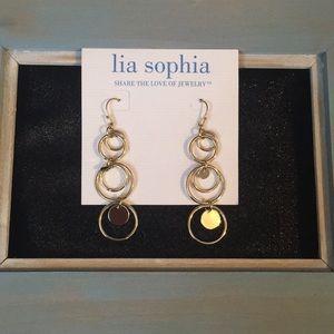Lia Sophia gold circle earrings